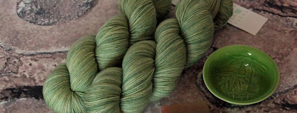 Matcha Green - 4 ply sock yarn in merino & nylon