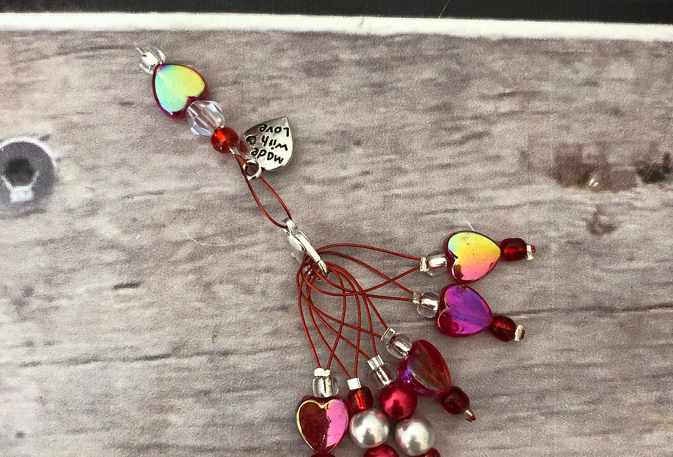 Valentines Down the Yarn Hole Stitch Markers