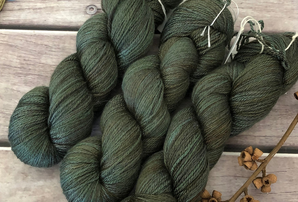 Mountain Fir - 4 ply silk and merino - White Cloud