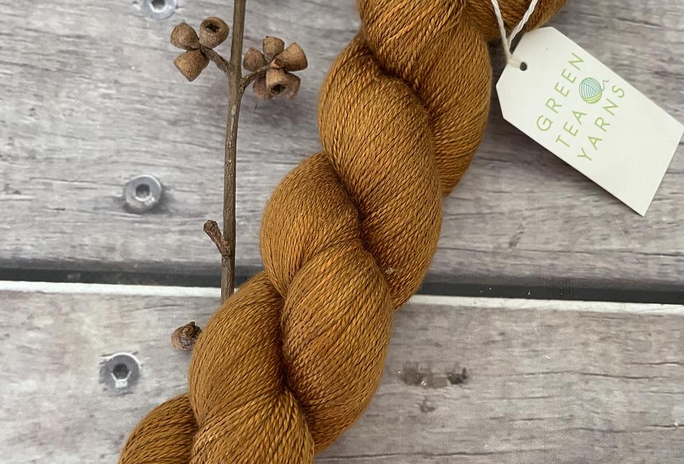 Coppernut ooak - 3 ply pure silk yarn