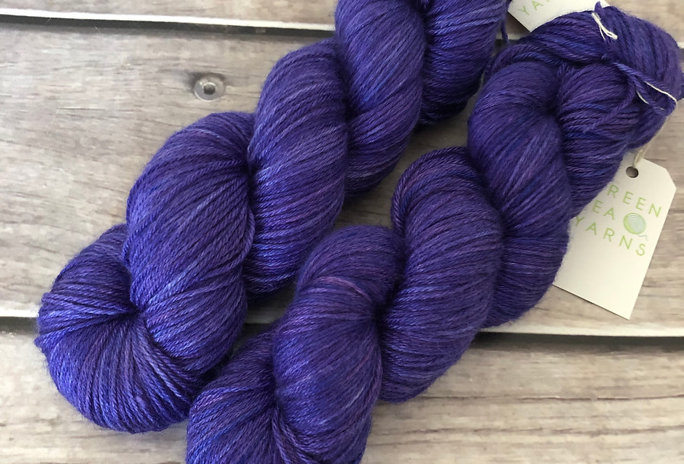 Bluebell Woods - 4 ply in Mulberry silk and BFL