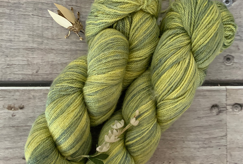 Kiwi Green - 4 ply in silk & merino