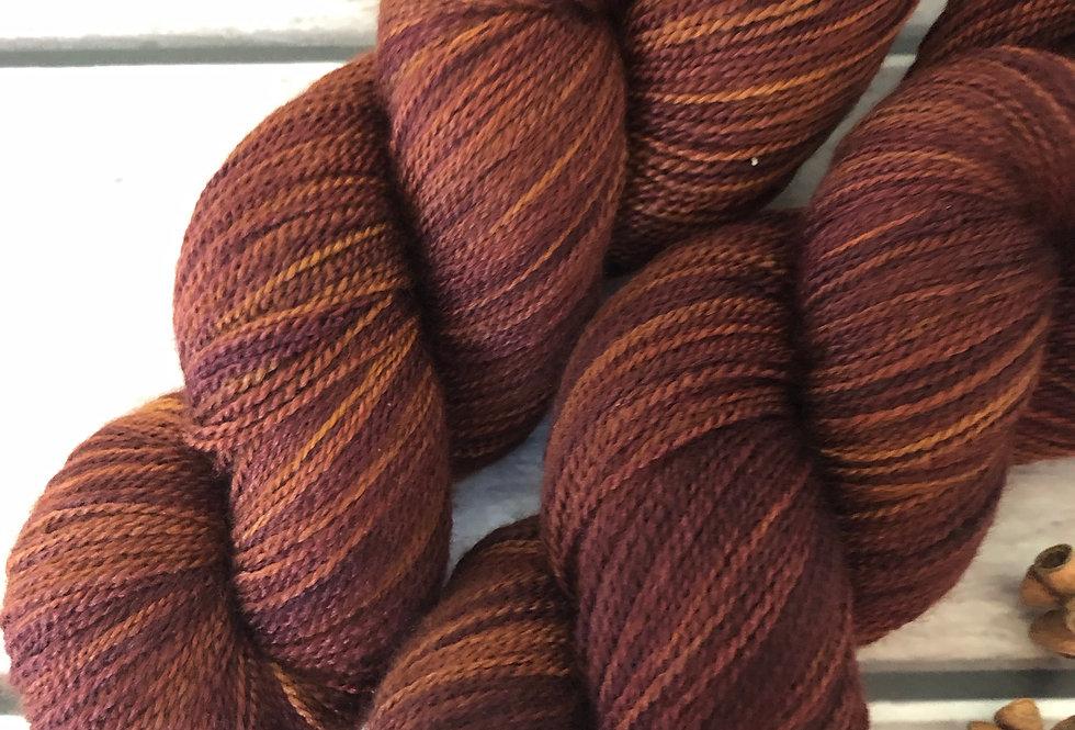 Nutmeg ooak = on Anji Bai - 2 ply Falklands wool and silk