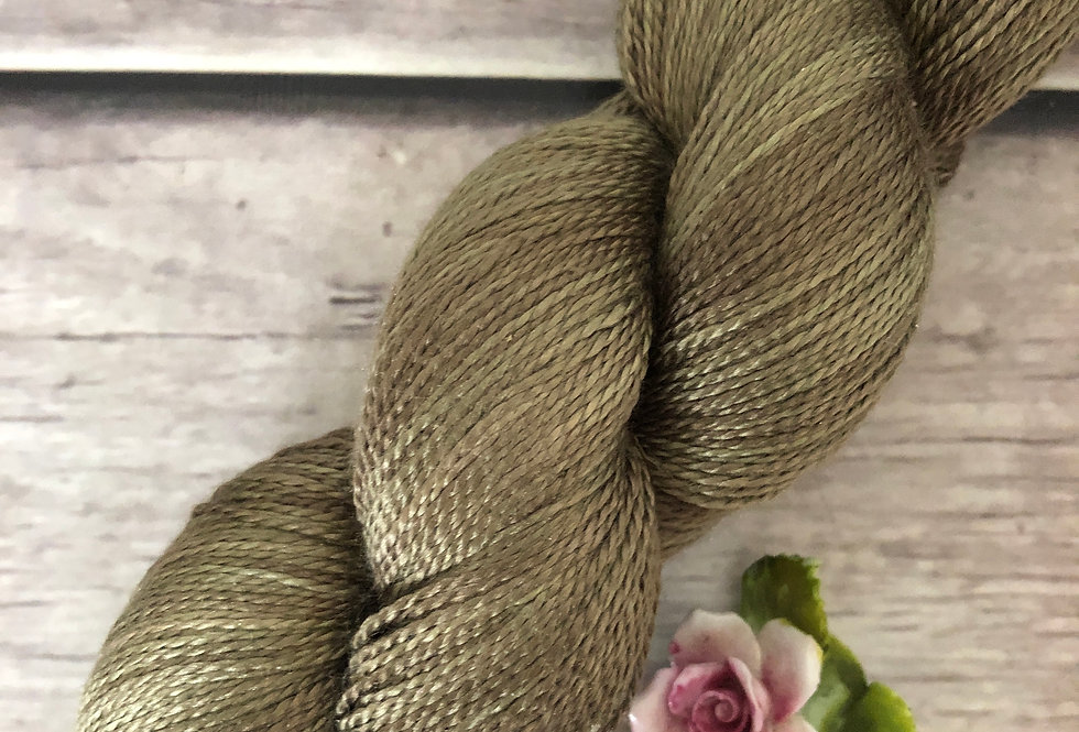 Woodland - 3 ply in pure Mulberry silk - Ginseng hl