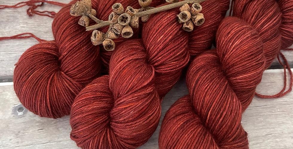 Red Dune - 4 ply sock yarn in merino and nylon - Darjeeling