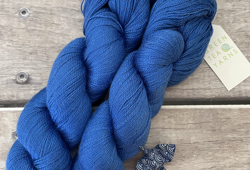 China Blue - 3 ply in Mulberry silk