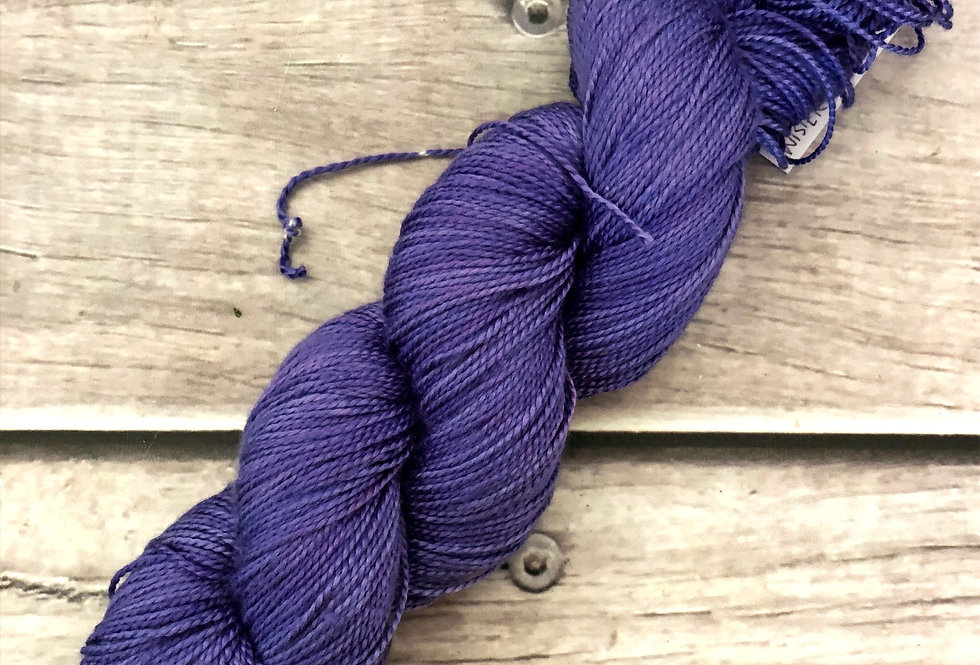 Wysteria Petal OOAK - 4 ply in Mulberry silk - Ginseng f