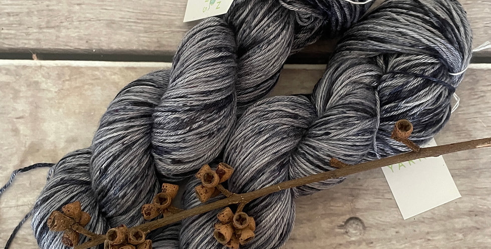 Speckled Nerves - 4 ply in Mulberry silk and BFL