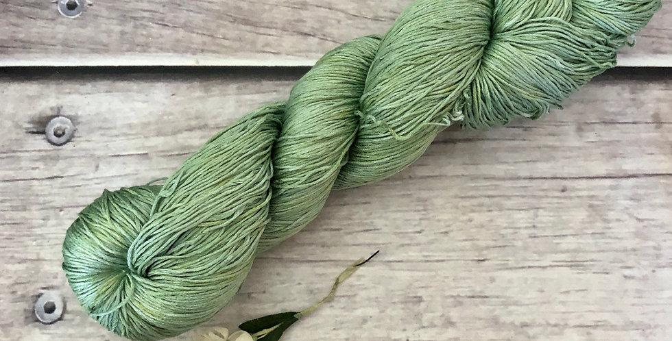 Matcha Green - lace Mulbery silk - Rainflower