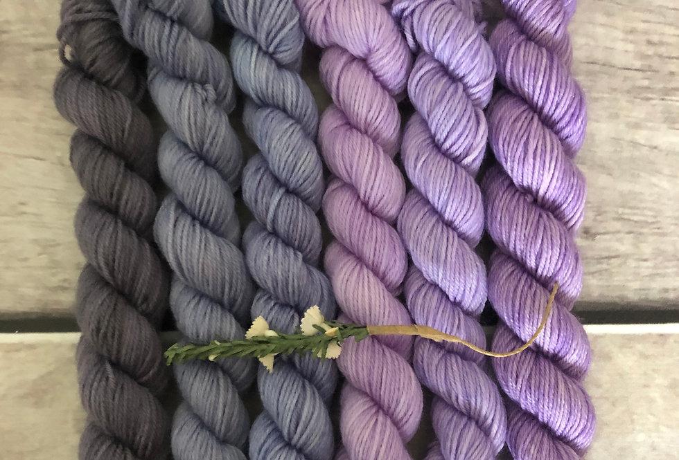 Summer Breeze - gradient mini yarn set - merino/nylon -Mangosteen4