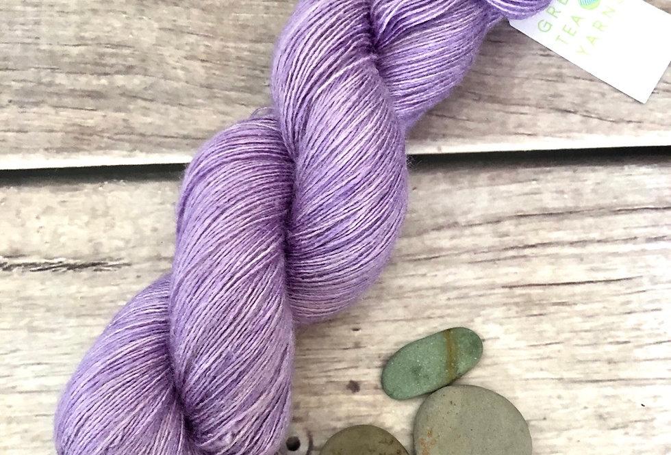 Summer Lilacs - lace Tussah silk - Ujicha