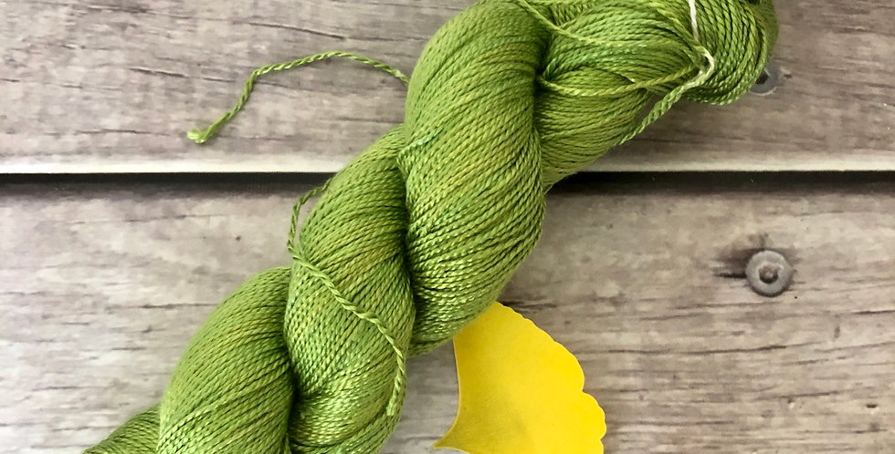 Gingko Leaf - 4 ply in pure Mulberry silk - Ginseng f