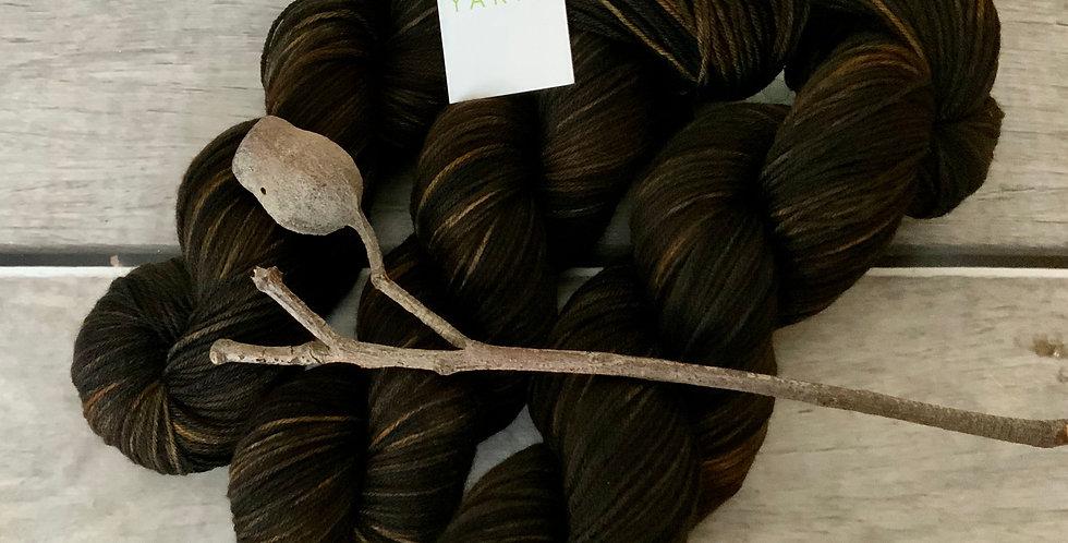 Forest Peat - sock yarn in merino & nylon