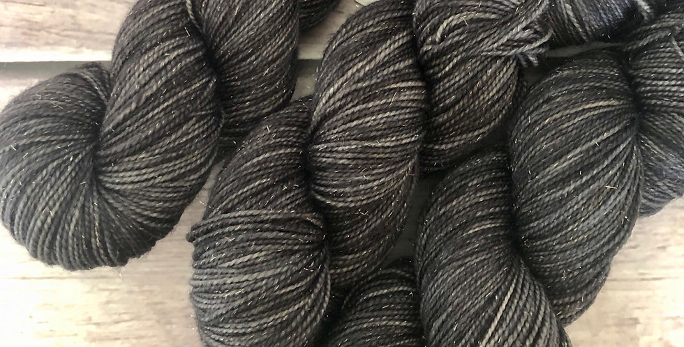 Fallen Ashes - sparkle sock yarn in merino & nylon