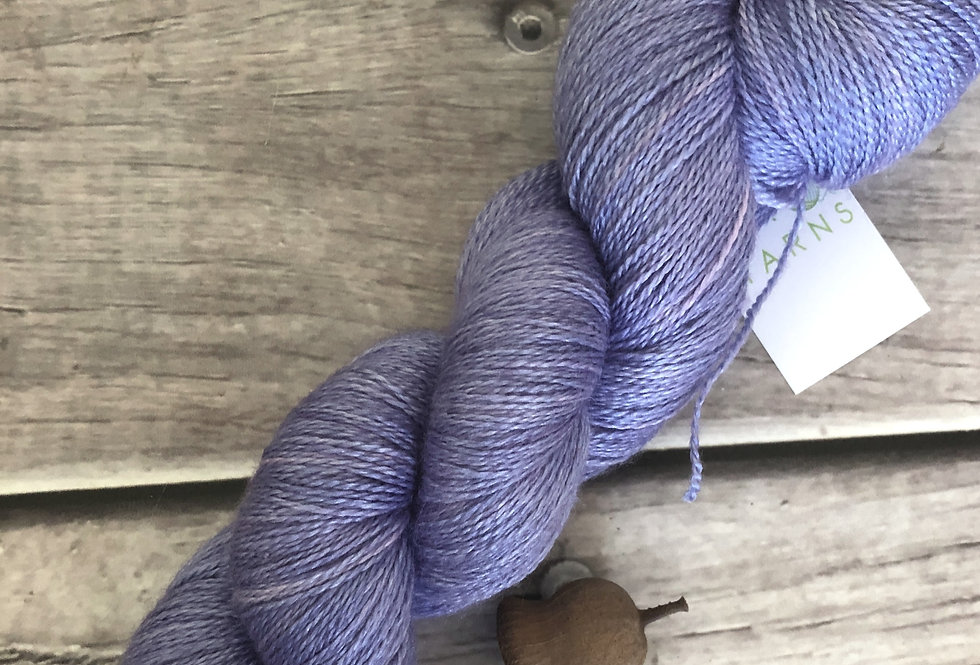 Faded Bluebells - 3 ply in Mulberry silk and BFL