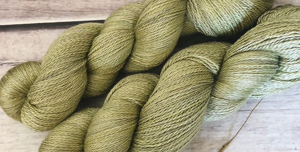Native Sage - 3 ply silk and merino - White Cloud