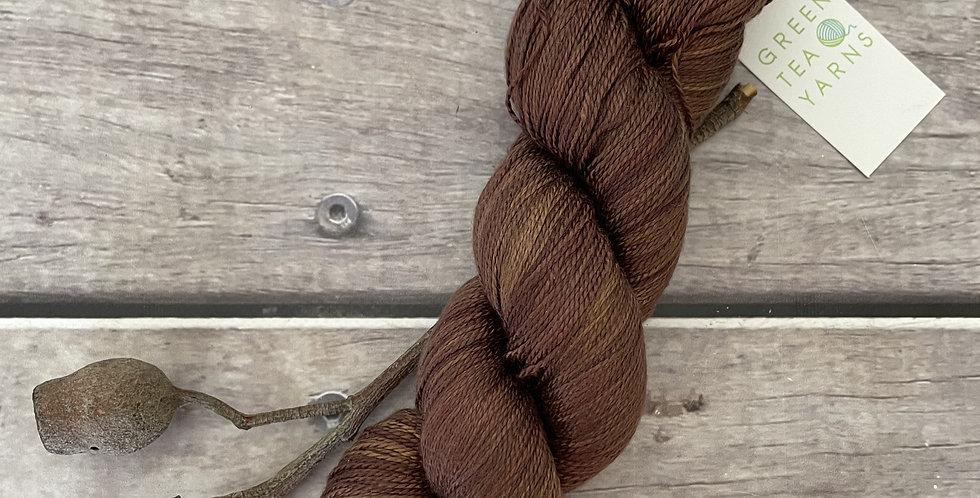 Mocha Mist ooak - 3 ply pure silk yarn