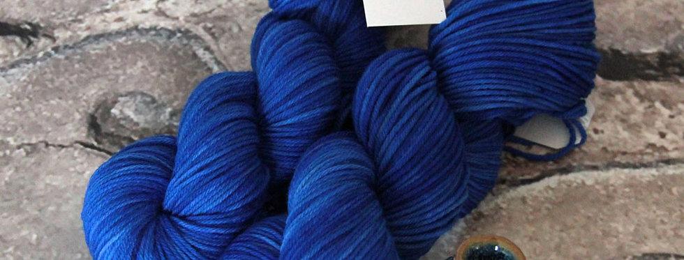 China Blue - on 8 ply merino and nylon sock yarn