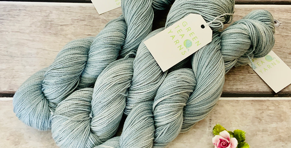 Cloudy Days on Camelia - silk and cotton 4 ply