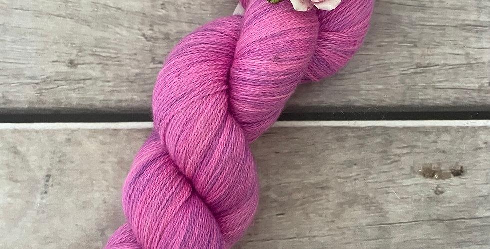 Pink Fairy - 2 ply Silk and Merino - Sencha