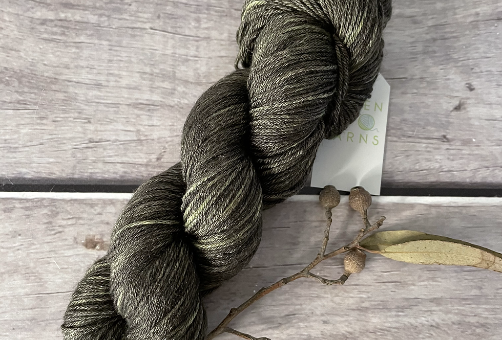 Moss Agate - 4 ply in Mulberry silk and BFL