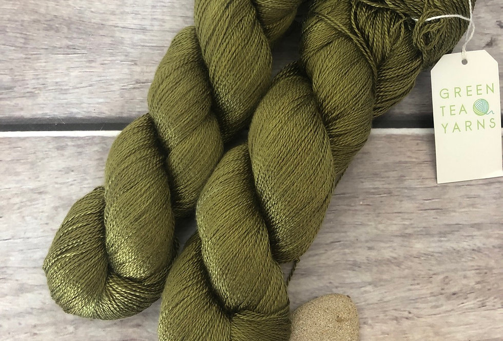 Banksia Light on Ginseng - 3 ply pure silk yarn