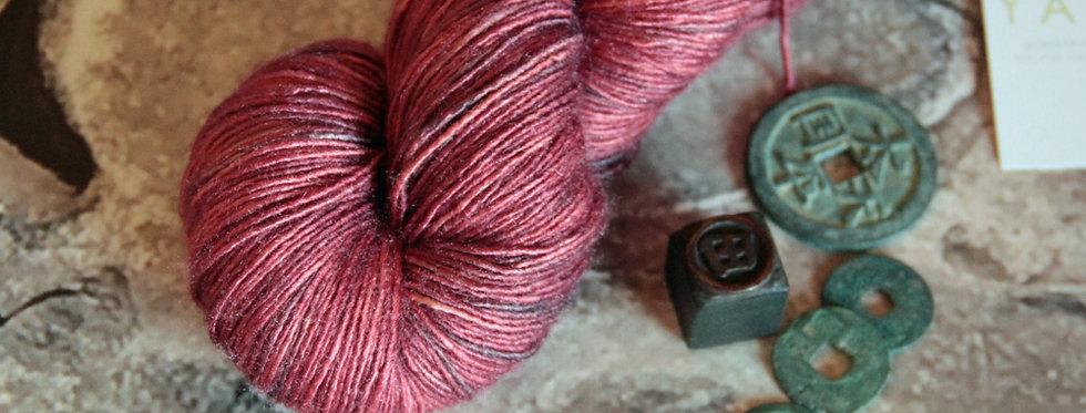Ming Red - 4 ply Tussah silk singles - Sulkazura