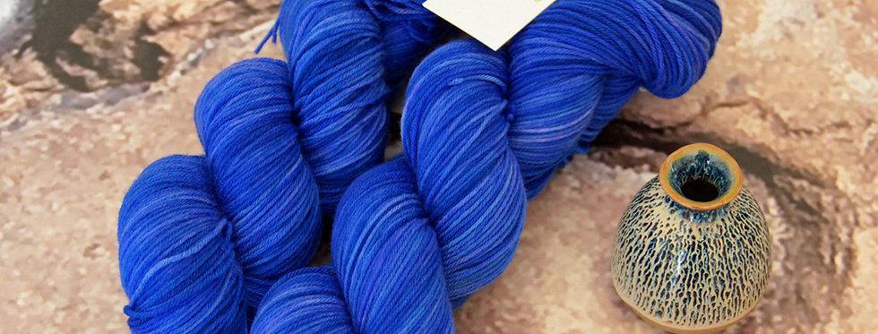 China Blue - 4 ply sock yarn in merino & nylon