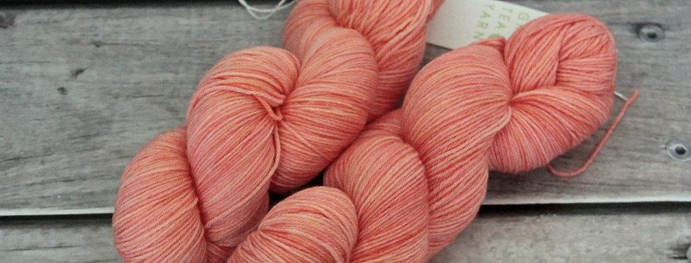 Flamingoes on Lake Nakuru - 4 ply sock yarn in merino & nylon
