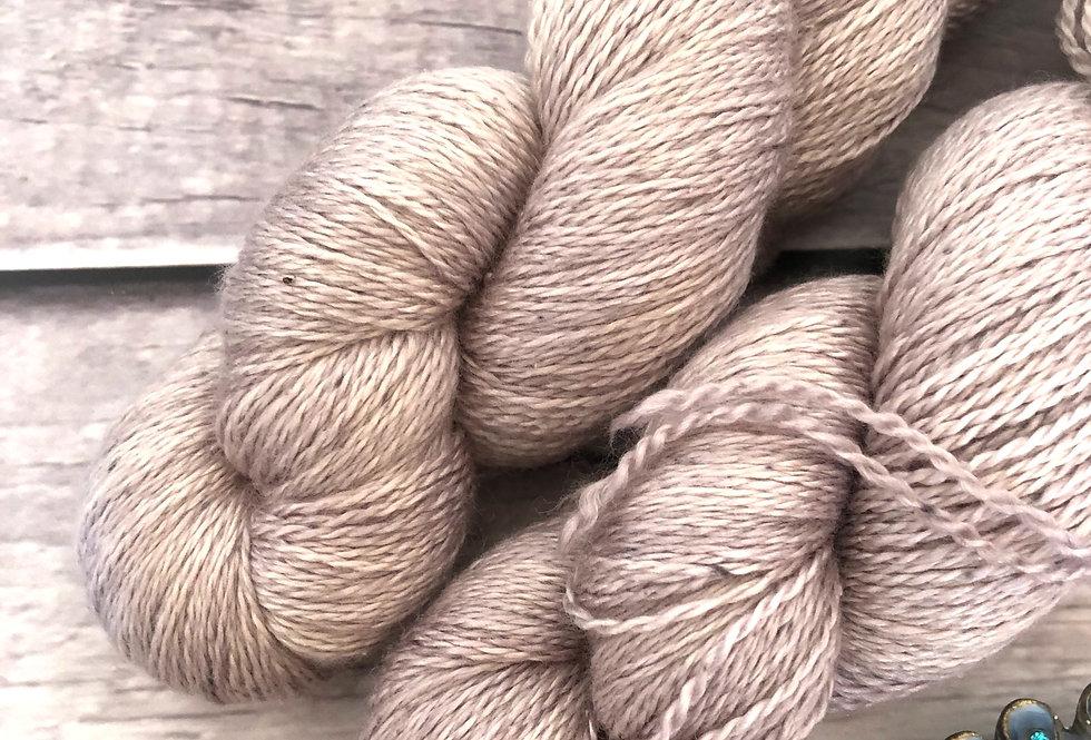 Dawn's Light ooak - 3 ply silk and merino - White Cloud