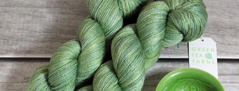 Matcha Green - 4 ply in silk and merino