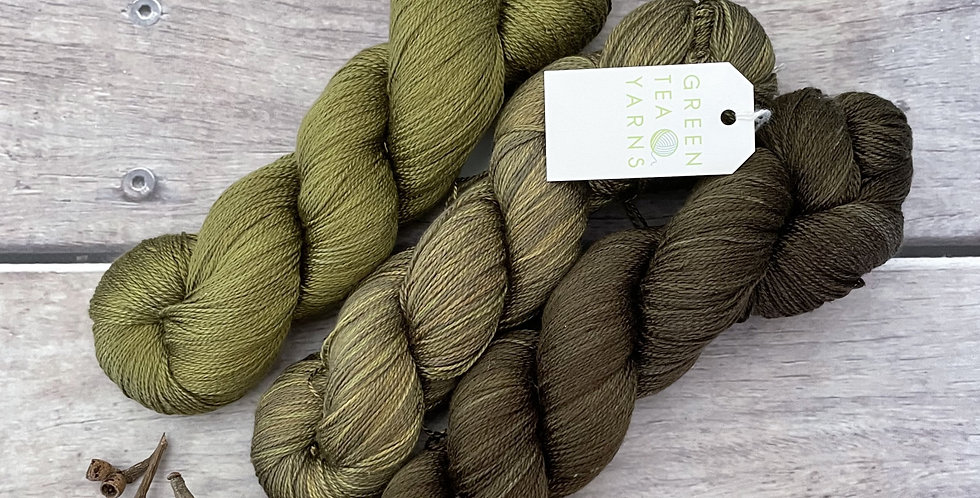 The Old Banksia Tree  - 3 skein set - 3 ply pure silk yar