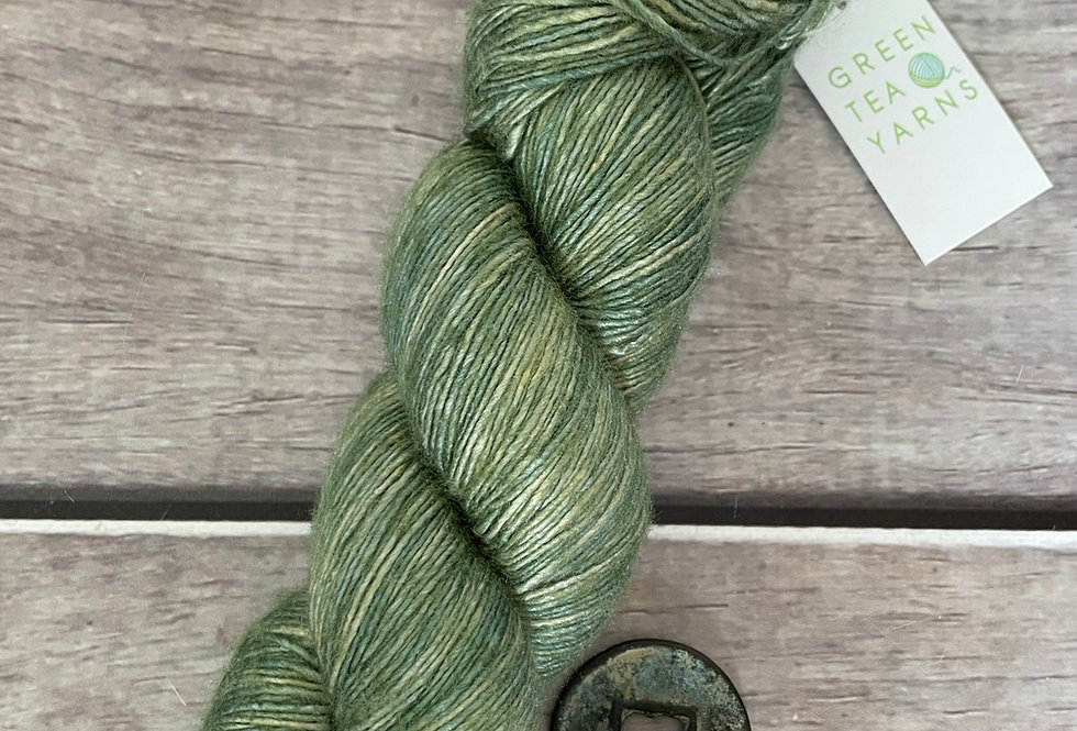 Matcha Green - 4 ply Tussah silk singles - Sulkazura