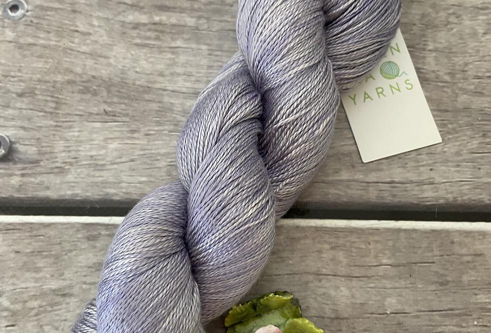 Hyacinth on Ginseng - 3 ply pure silk yarn
