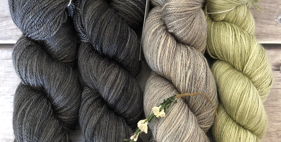 Alpine Slopes - 4 ply silk and merino - White Cloud
