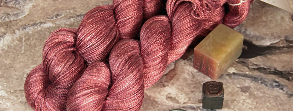 Ming Red - 3 ply in Mulberry silk