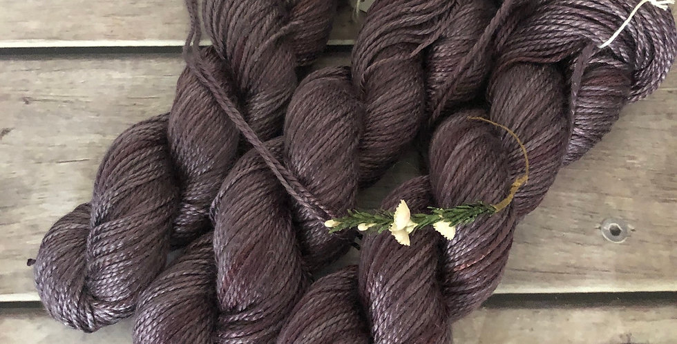 Fig - 8 ply in Mulberry silk - Keenmun