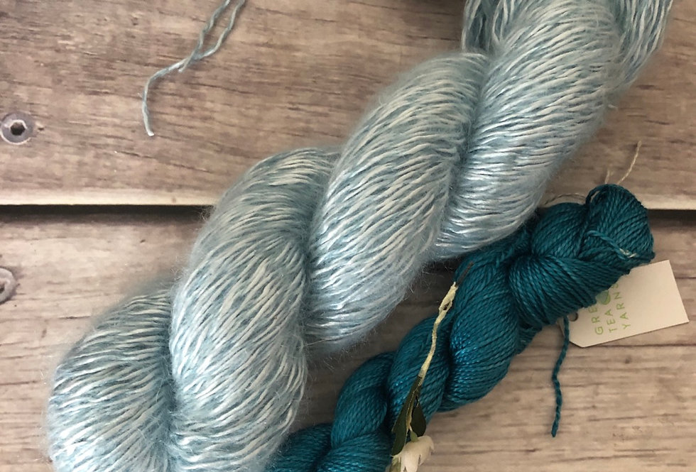 Sea's End - 5 and 4 ply - Silk, Mohair and Nylon and Ginseng set