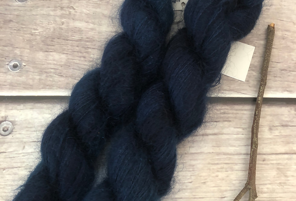 Midnight in Paradise on ShuiYun - 2 ply lace in Mohair and silk