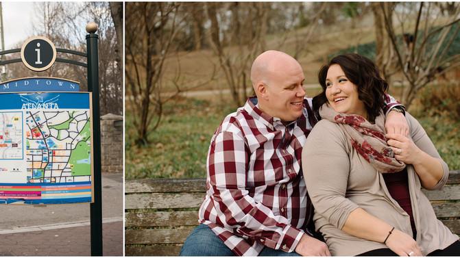 Melissa + Nick - Engagement Session in Piedmont Park!