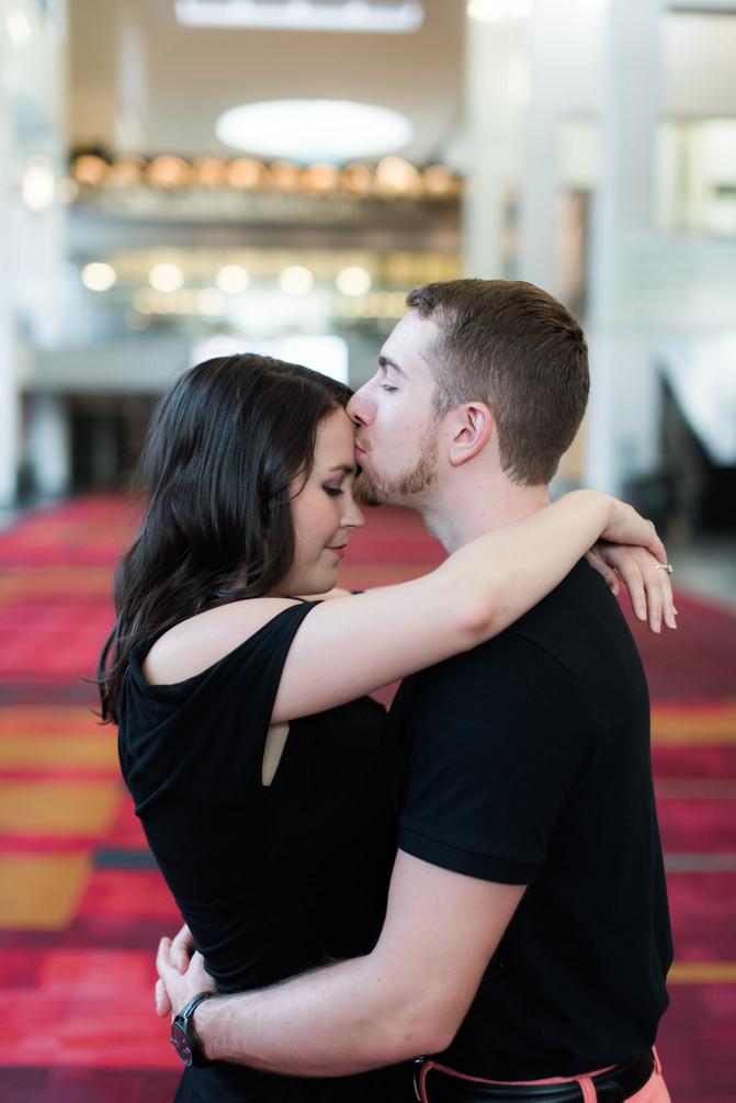 Alexa + Stephen: Uptown Charlotte Engagement Photography