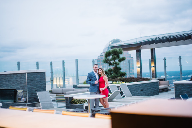 Chris & Suzie: Uptown Charlotte Engagement Photography