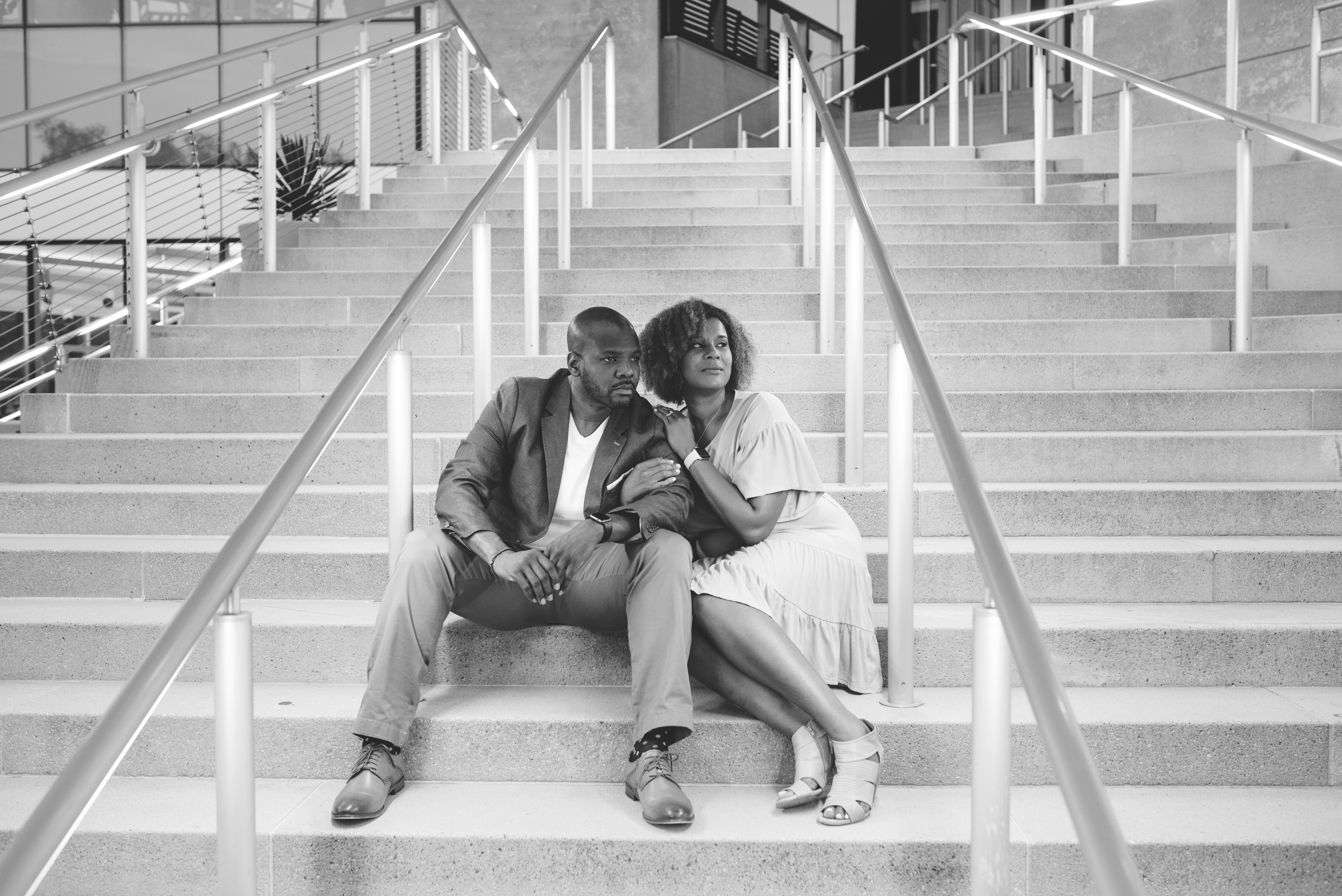 Uptown Charlotte Engagement Session008