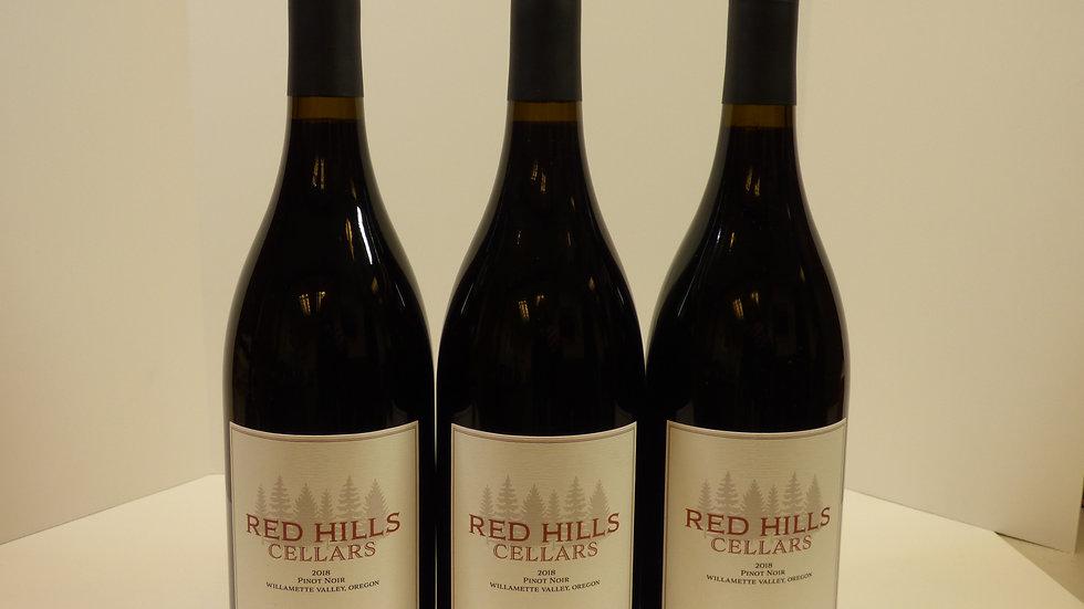 2018 Red Hills Cellars Willamette Valley Pinot Noir 3 pack