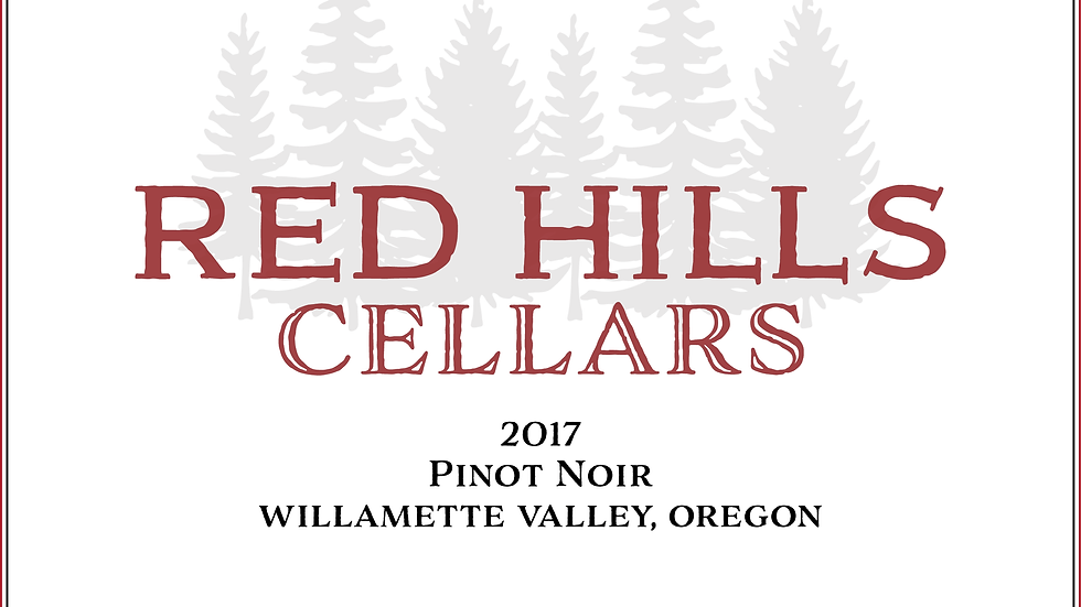2017 Red Hills Cellars Willamette Valley Pinot Noir 12 Pack