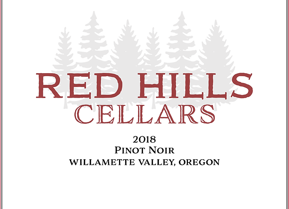 2018 Red Hills Cellars Willamette Valley Pinot Noir 12 pack