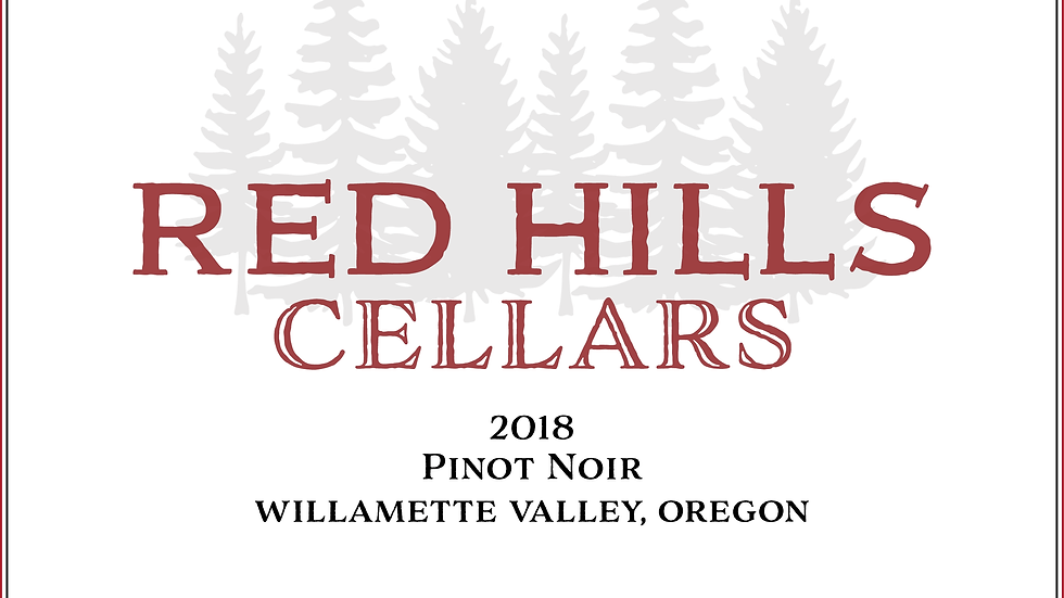 2018 Red Hills Cellars Willamette Valley Pinot Noir 12 pack