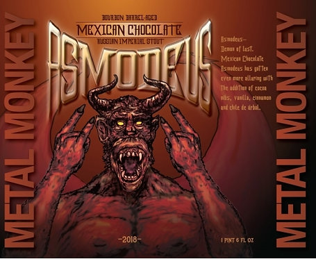 2018 Barrel-Aged Asmodeus Mexican Chocolate 32oz Crowler