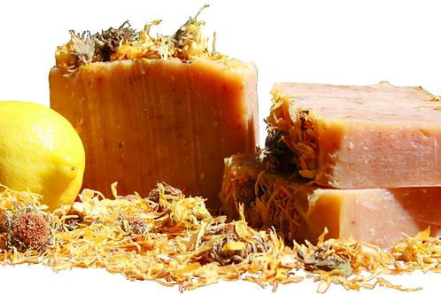 Calendula and Lemon Olive Oil and Jojoba Face Soap