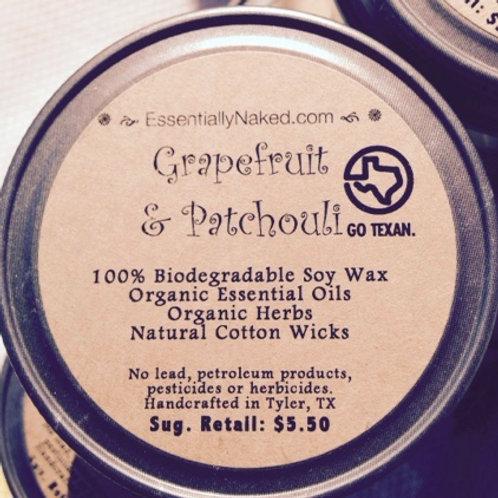 Grapefruit & Patchouli Soy Candle